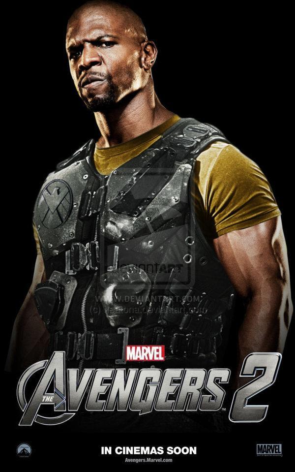 Fan art de Terry Crews como Luke Cage en The Avengers 2 (Los Vengadores 2)