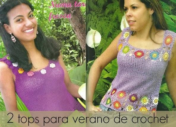 tops, crochet, patrones,instrucciones
