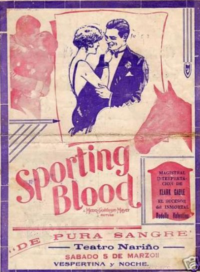 Sporting Blood theater program