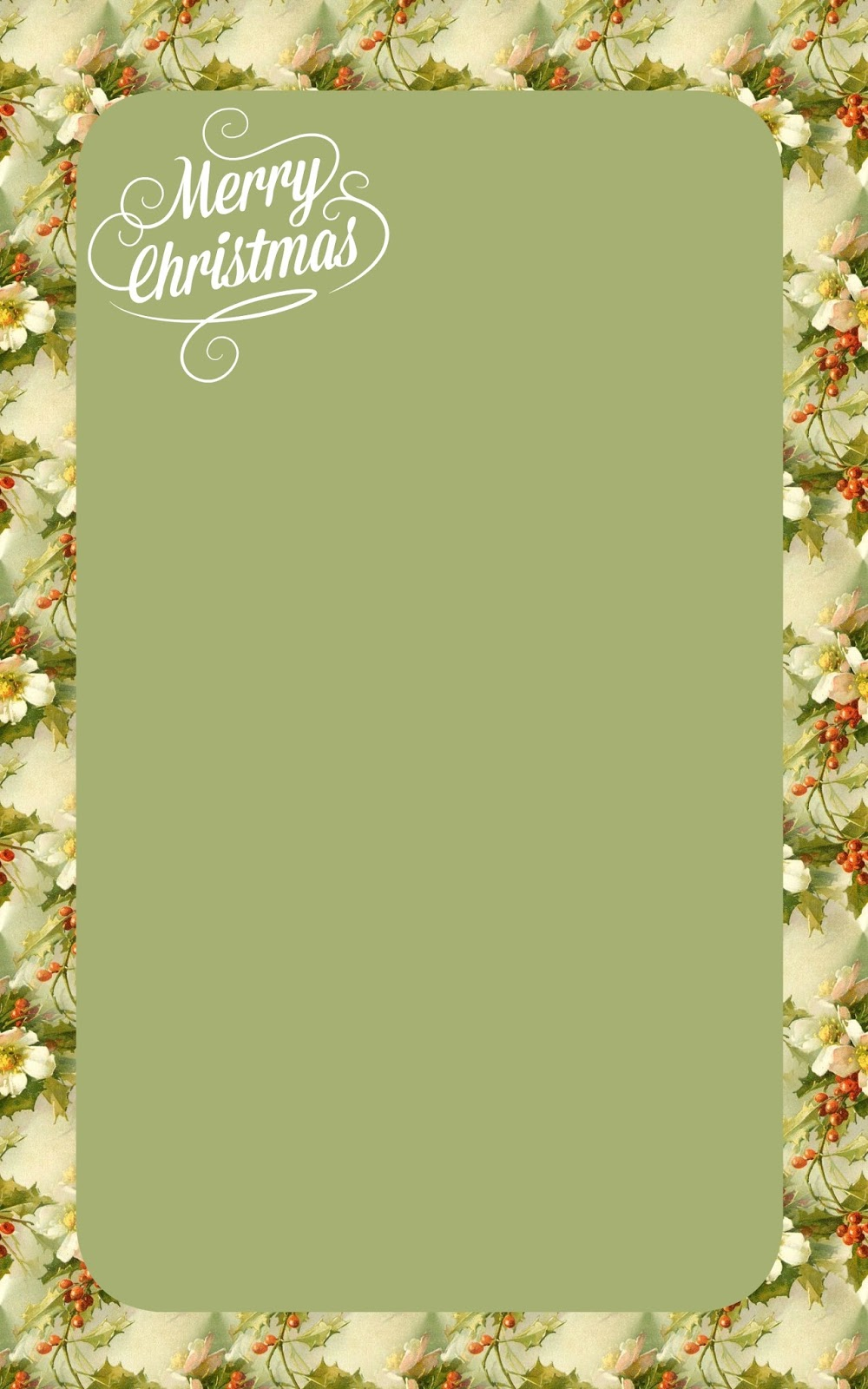 Free Vintage Images: Free Christmas Printable Stationery