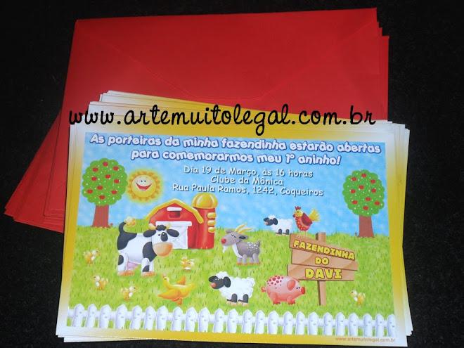 Arte muito legal - Convites infantis e lembrancinhas personalizadas