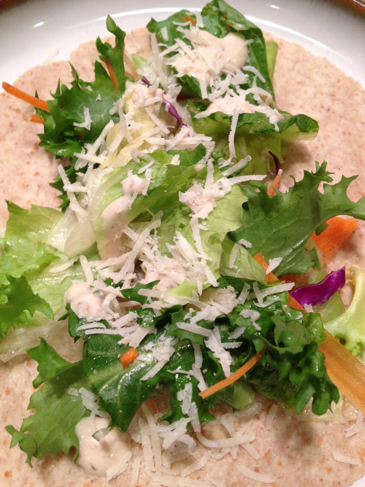 Healthy Makeover: Chicken Caesar Wrap