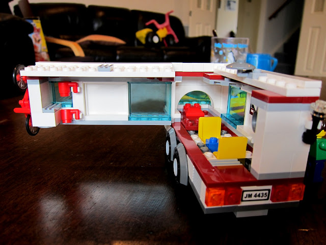 LEGO City caravan from the inside