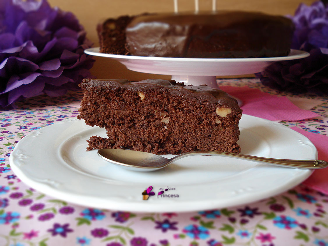 bizcocho, chocolate y nueces, Mississippi mud cake, pastel, tarta, tarta de chocolate, tarta de chocolate y nueces, tarta del lodo de Mississippi,