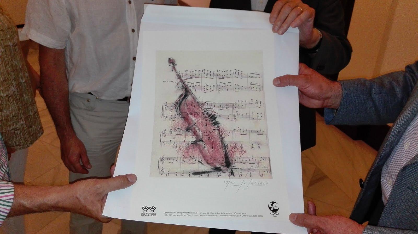 Ofrena de la Colla sardanista Rosa de Reus en motiu del 50è aplec Baix Camp