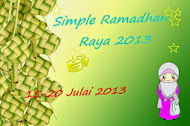 Simple Ramadhan Raya 2013