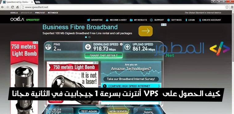 كيف الحصول على VPS أنترنت بسرعة 1 جيجابيت في الثانية مجانا 2015