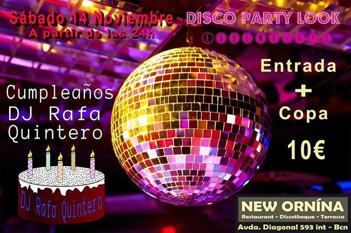 Flyer Disco Party 80 (Cumpleaños DJ Rafa Quintero)