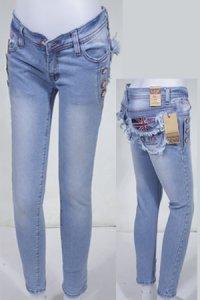 Jeans LOGO Pensil 156 - Biru Muda (Toko Jilbab dan Busana Muslimah Terbaru)