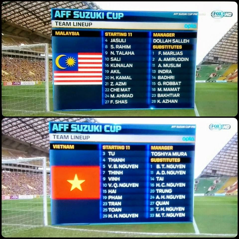 Kesebelasan Utama Pemain Malaysia Vs Vietnam