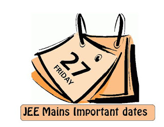 JEE Mains Important Dates