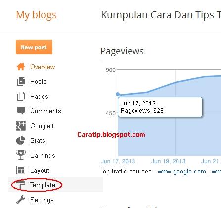 cara mengganti template blogspot sendiri