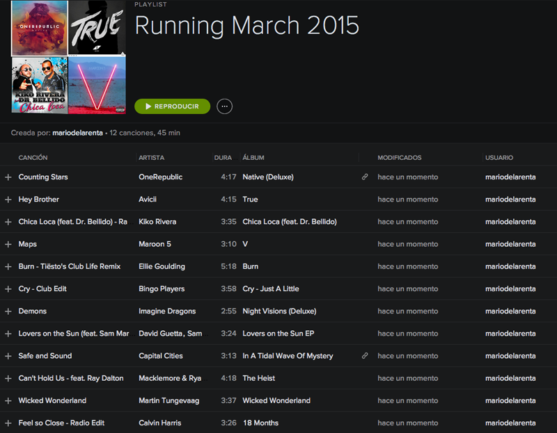 Running PlayList March 2015 by #delaRentaRunners