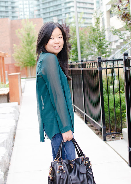Fall fashion, green, H&M