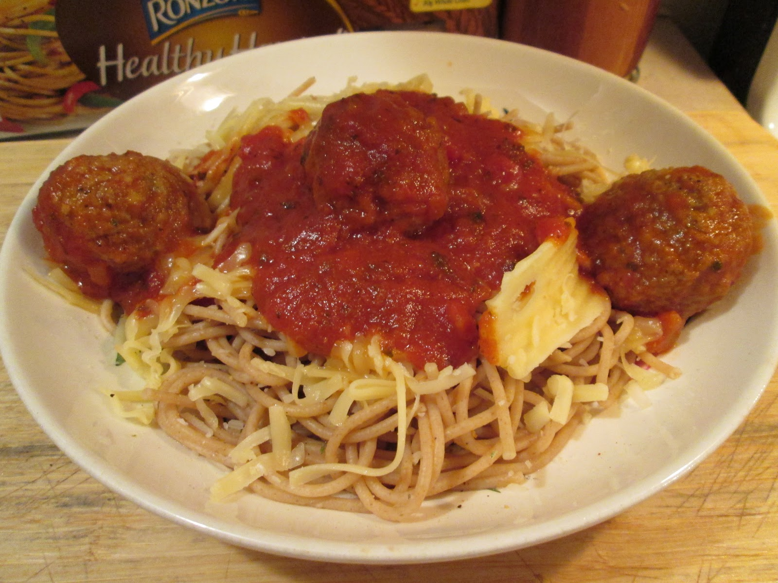 it was spaghetti and meatballs tonight used ronzoni healthy harvest