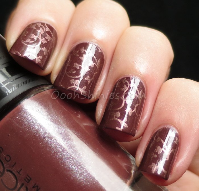 Catrice Brit Chick with China Glaze Delight andBornPrettyStore plate QA27