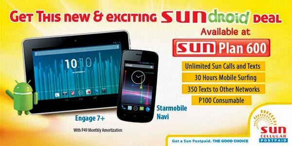 Starmobile Engage 7+ tablet and Navi phone Free on Sun Plan 600