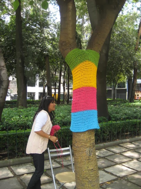 yarn bombing mexico, arte urbano mexico