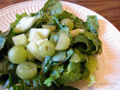 healthy dijon-mustard vinaigrette and salad