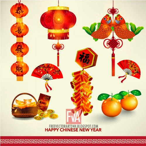 Happy-Chinese-New-Year-Decoration-Set-vector-graphics