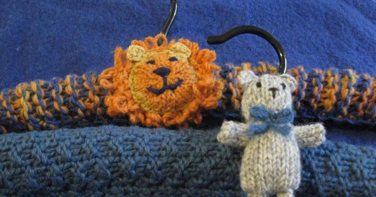Knitting Coat Hangers : Old velvet knitted coat hangers