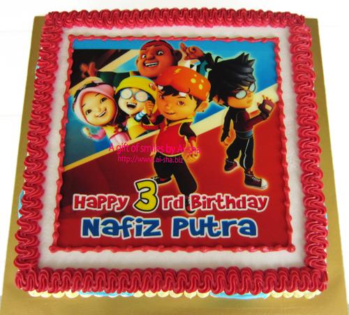 Boboiboy Birthday Cake