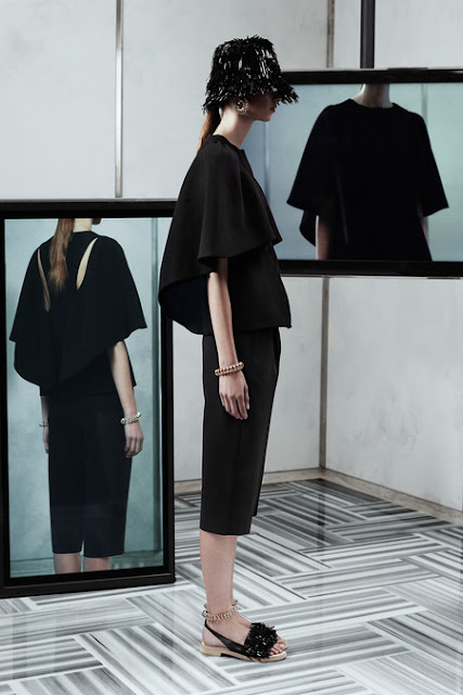Balenciaga, Resort 2014 - old balenciaga meets wang,         Looks like Alexander Wang has been into Cristóbal Balenciaga's cookie jar! This piece is such a wonderful nod to Balenciaga's classic designs - with a cool twist of Wang's signature modern and futuristic active-wear.