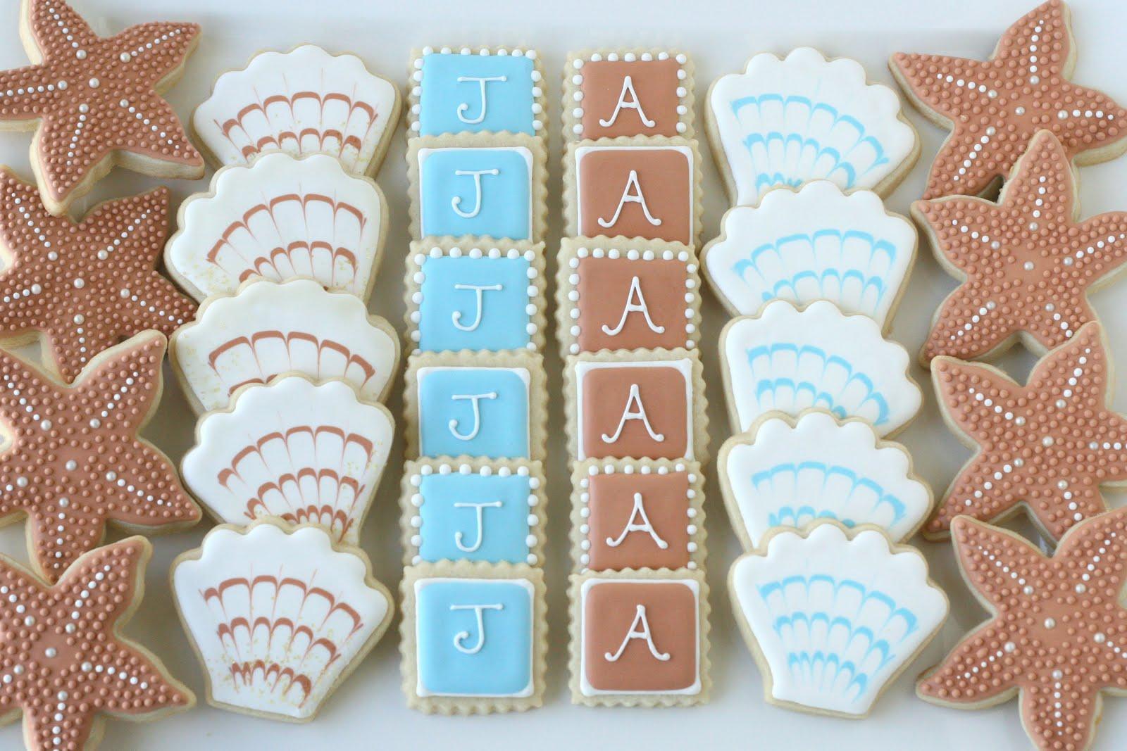 Beach Wedding Cookies Glorious Treats