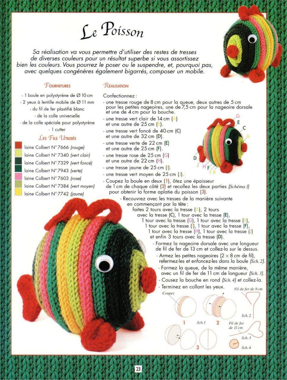 peixe em crochet