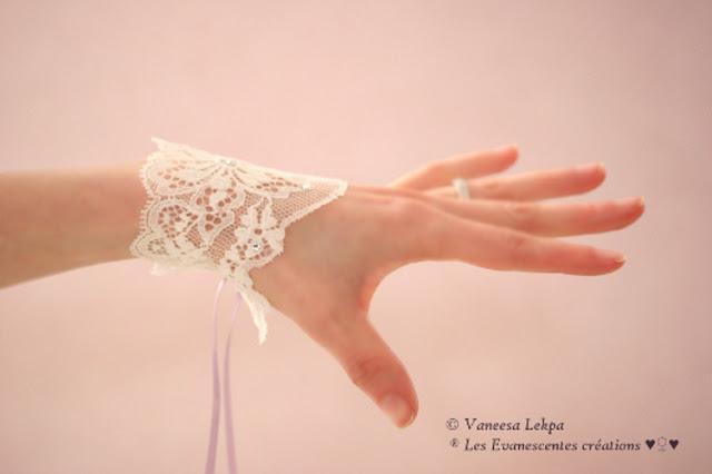 mitaines mariée dentelle calais ivoire haute couture