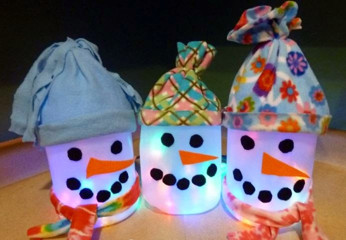 Ideas products milk jug snowmen for Christmas crafts with milk jugs