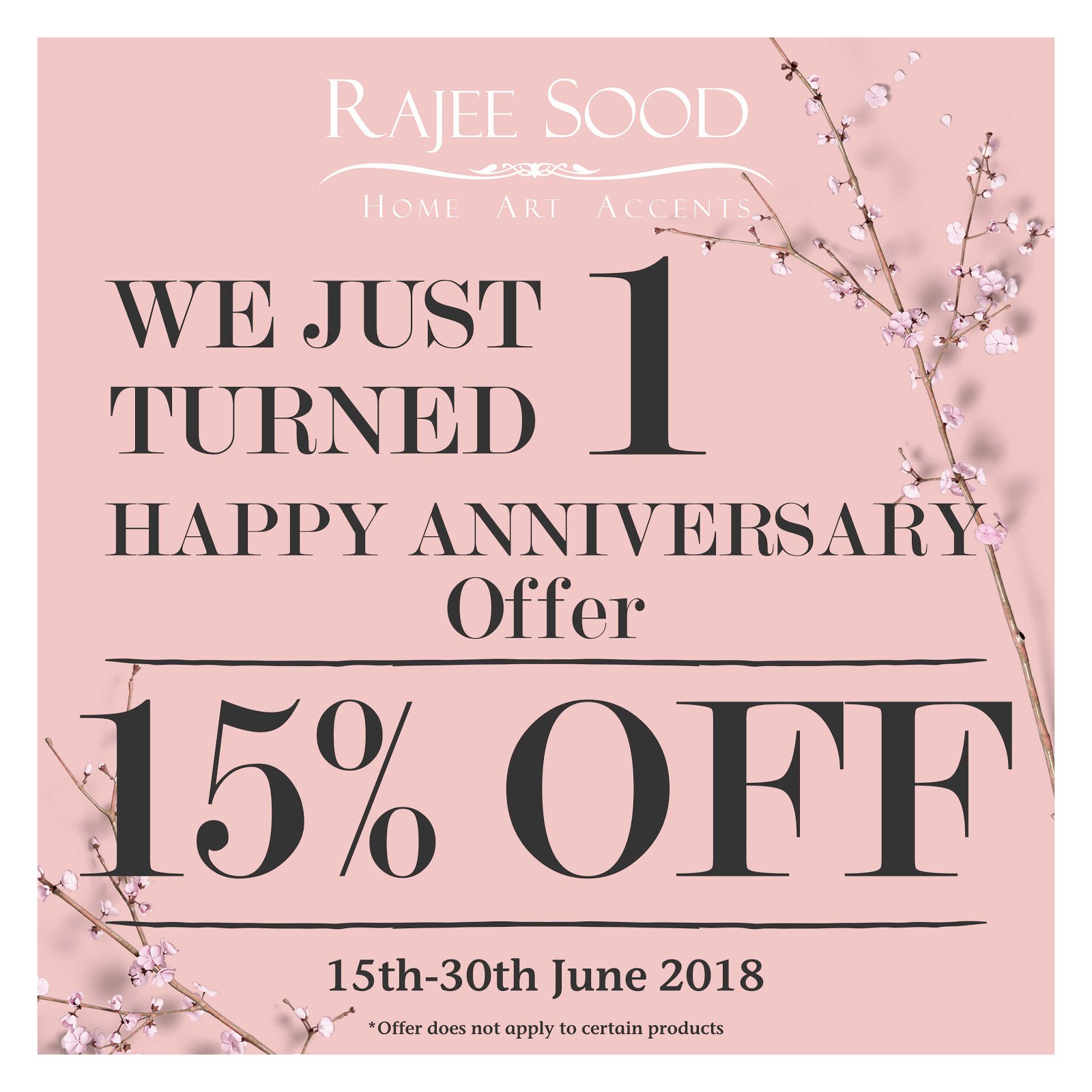 Special Anniversary Offer