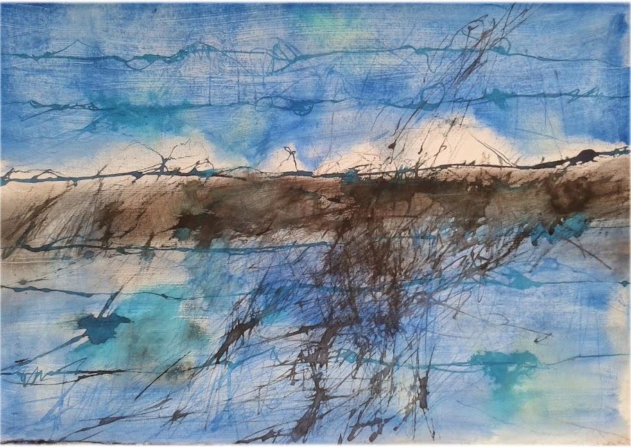 La dulzura del gris hilvana este mundo de azul perdido tejiendo líneas sobre él...( zri y end)