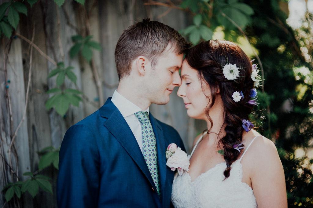 Bröllopsfoto med bohem stil