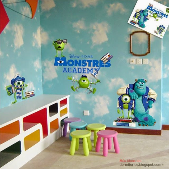 DORMITORIOS MONSTER UNIVERSITY