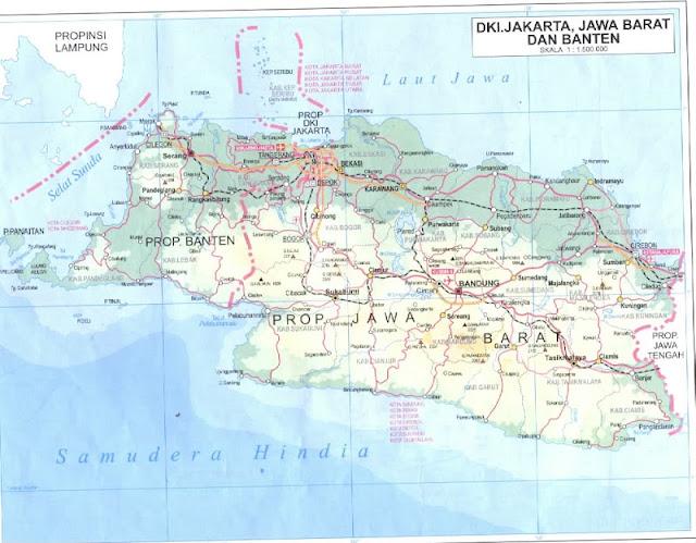 takjub indonesia peta jawa barat