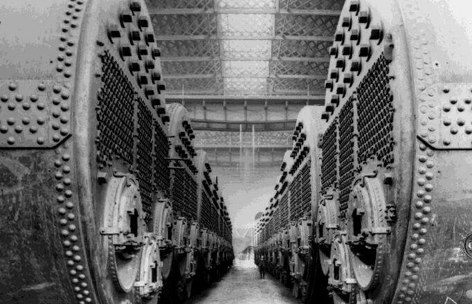 Documentary Photographs of Titanic: Boilers Await Installation