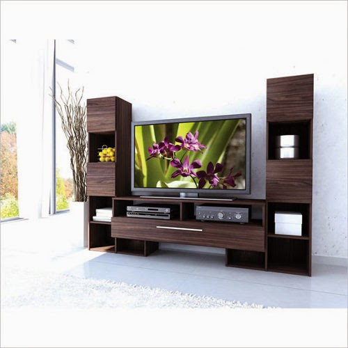 modern wooden entertainment center Interior