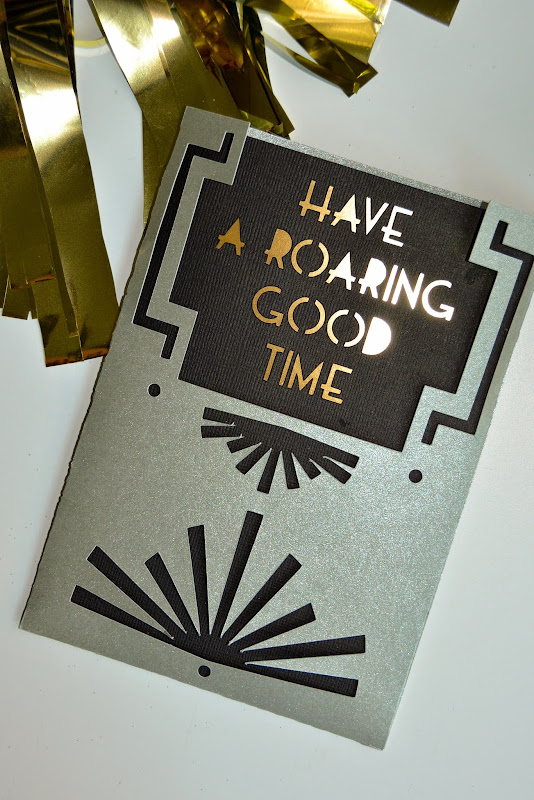 Aesthetic Nest Craft Roaring 20s Birthday Invitation Cricut