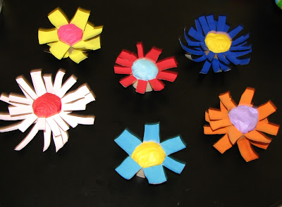 Sew can do may 39 s craftastic kids can craft parties for Cardboard tube flowers