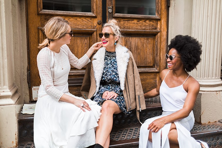 Fashion Over Reason X Keaton row with Caroline Maglathlin, Angela Denae, Rebecca Taylor white dress