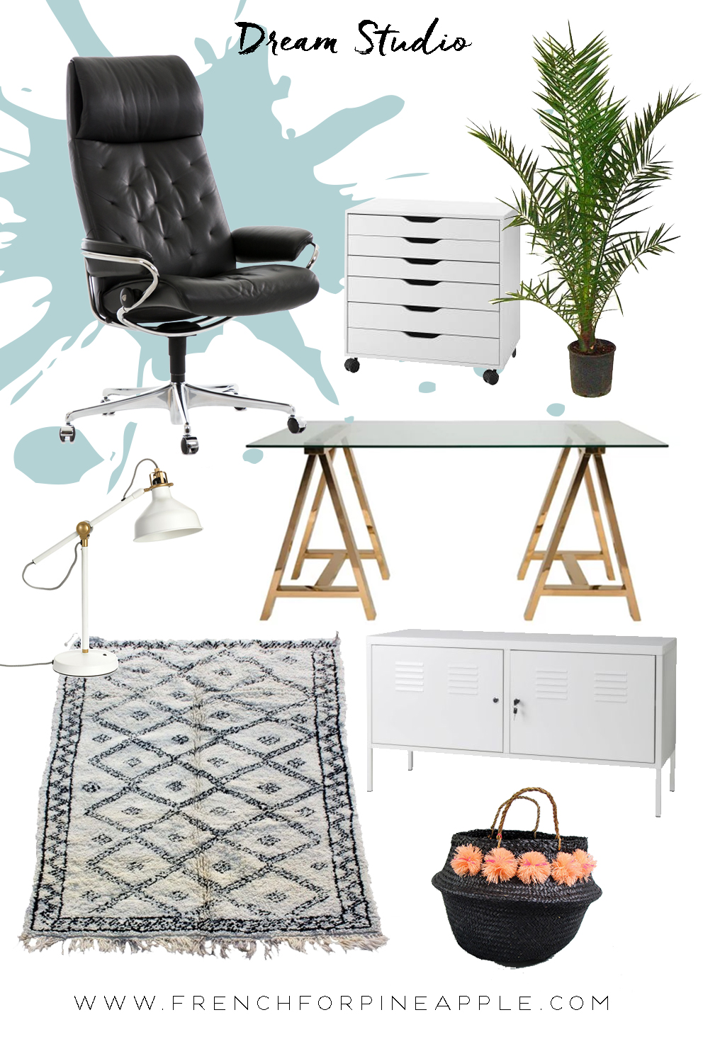 Dream Studio Moodboard - French For Pineapple Blog