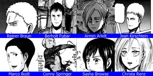 104th trainee soldier attack on titan