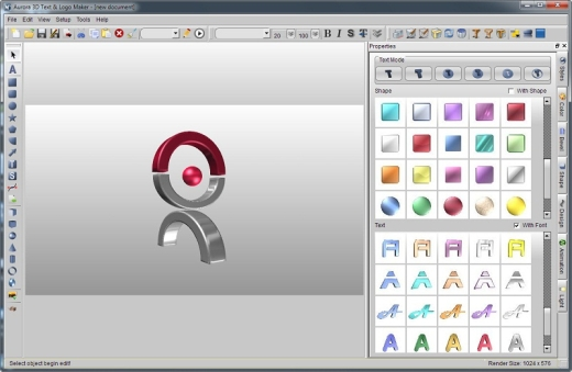 aurora 3d text and logo software download microcreator