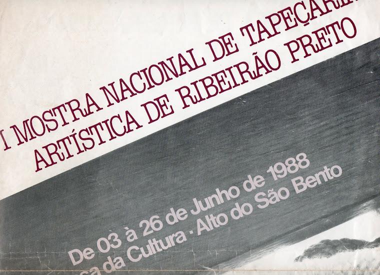 Cartaz-convite da I Mostra Nacional de Tapeçaria Artística de Ribeirão Preto, SP.