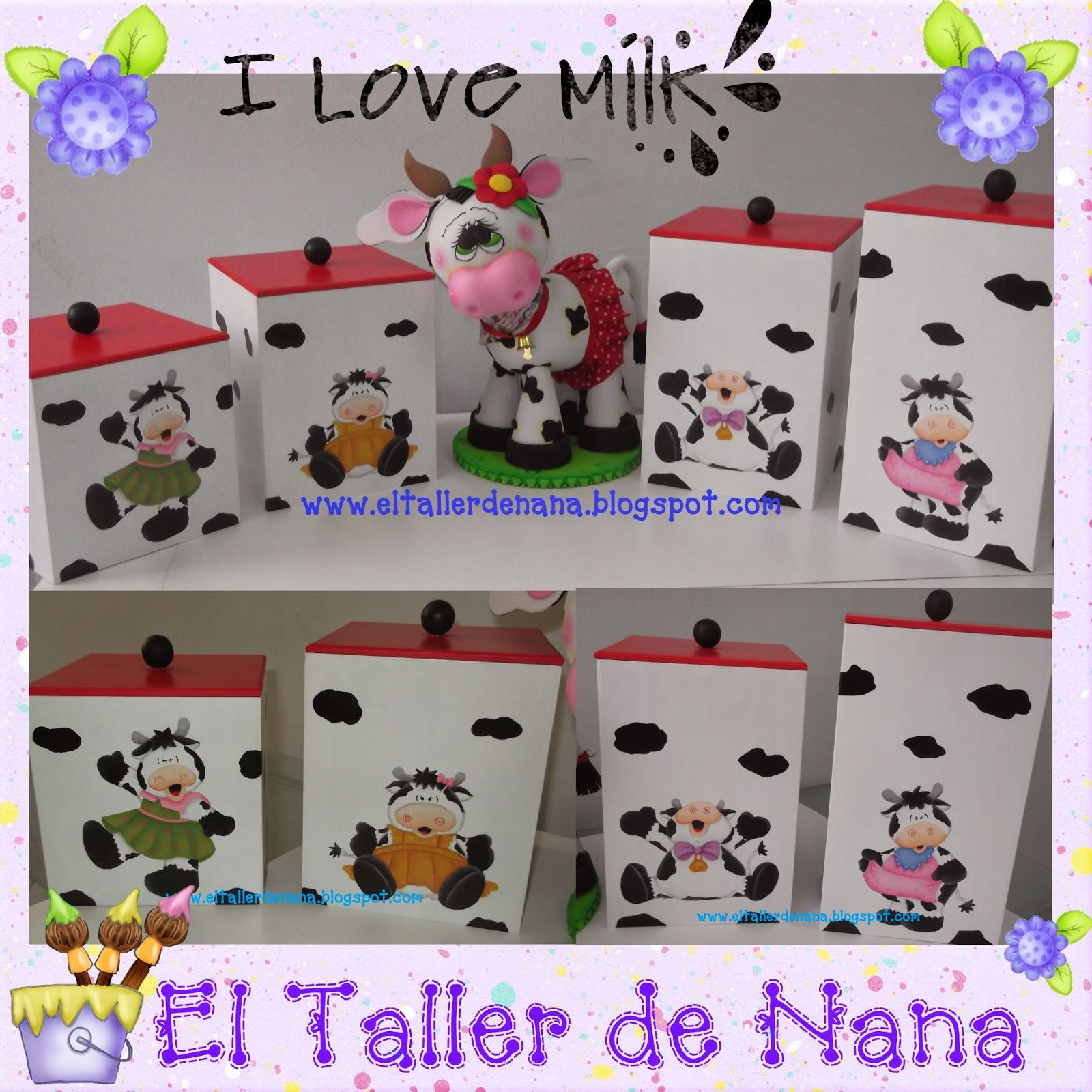 El Taller de Nana: Muuuuchas Vacas para la Cocina en Madera