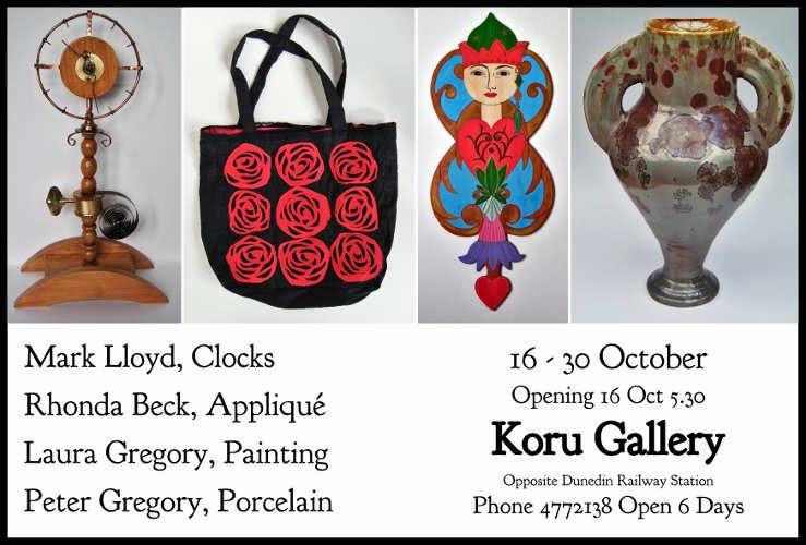 Exhibition at Koru Gallery, Dunedin
