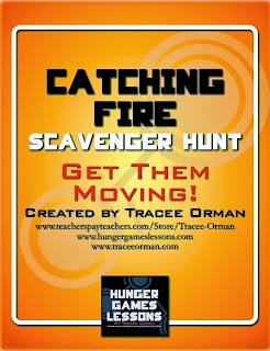 Catching Fire Scavenger Hunt Activity
