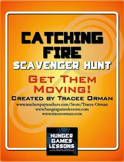 Catching Fire Scavenger Hunt Activity