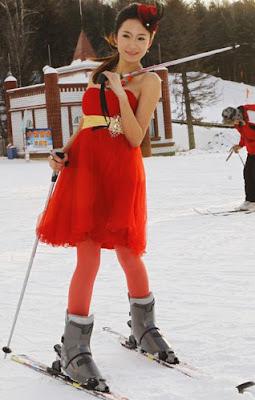 凍人妹 滑雪場
